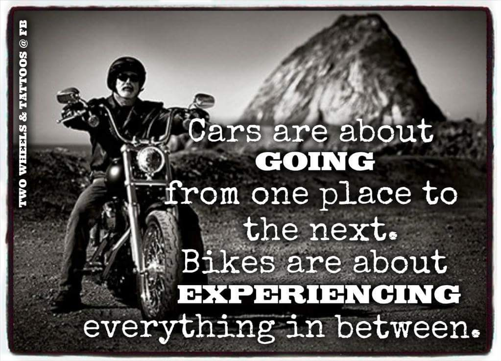 Biking Is About The Experience